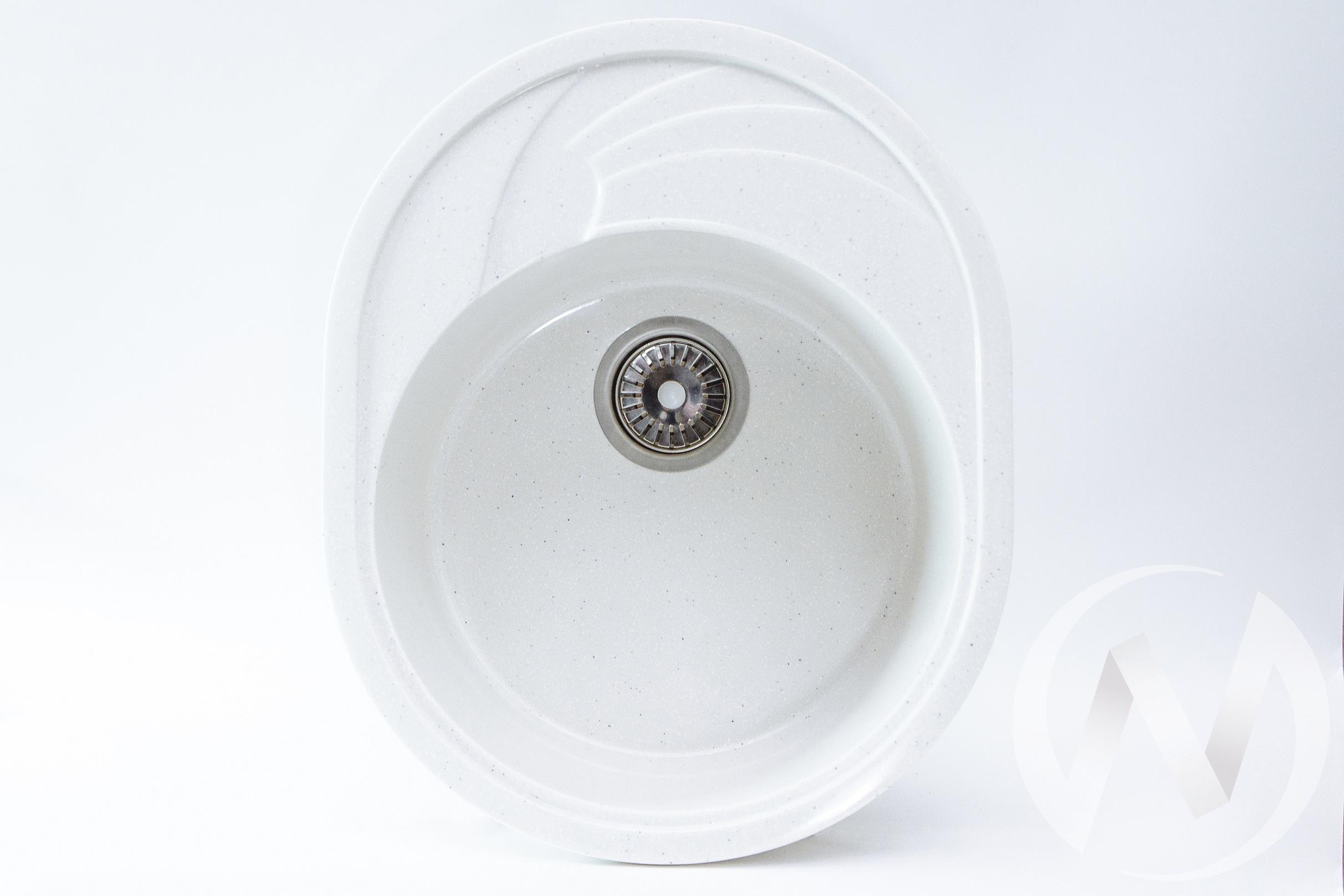 Мойка из искусственного камня Light 5 без фрезы и сифона (белый)