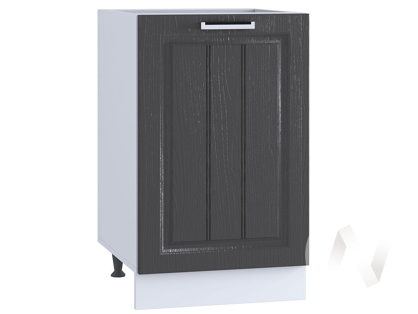 "Кухня ""Луксор"": Шкаф нижний 450, ШН 450 (Клен серый/корпус белый)"