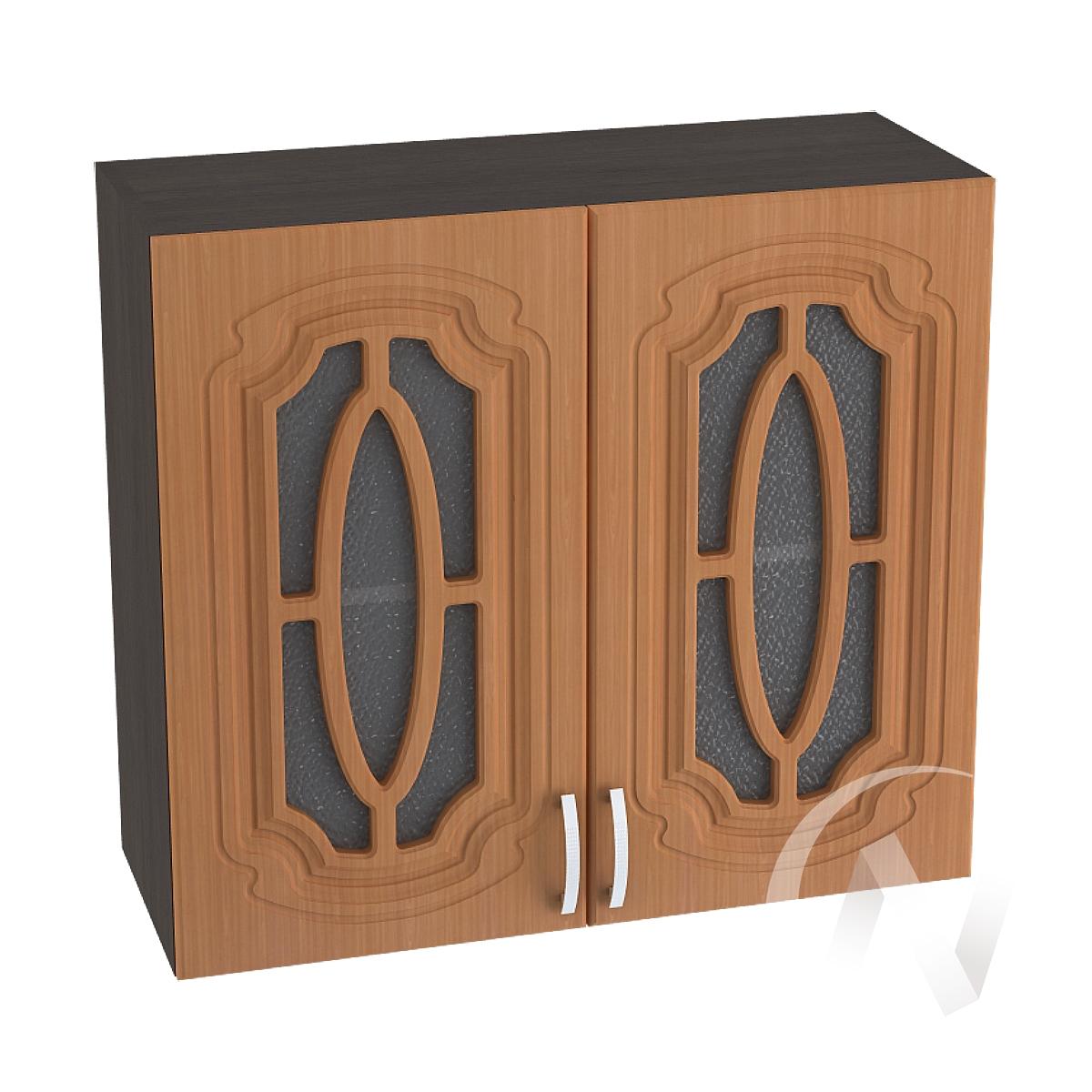 """Кухня """"Настя"""": Шкаф верхний со стеклом 800, ШВС 800 новый (Орех миланский/корпус венге)"""