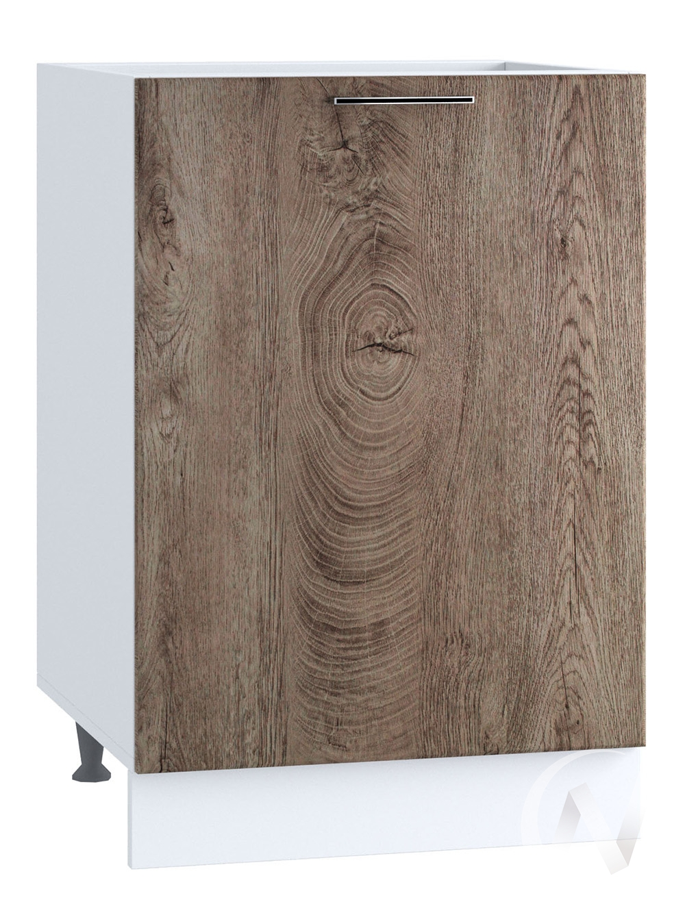"""Кухня """"Палермо"""": Шкаф нижний 500, ШН 500 (Дуб остин беж/корпус белый)"""