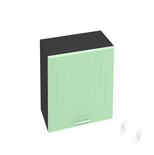 """Кухня """"Вега"""": Шкаф верхний горизонтальный 602, ШВГ 602 (салатовый металлик/корпус венге)"""