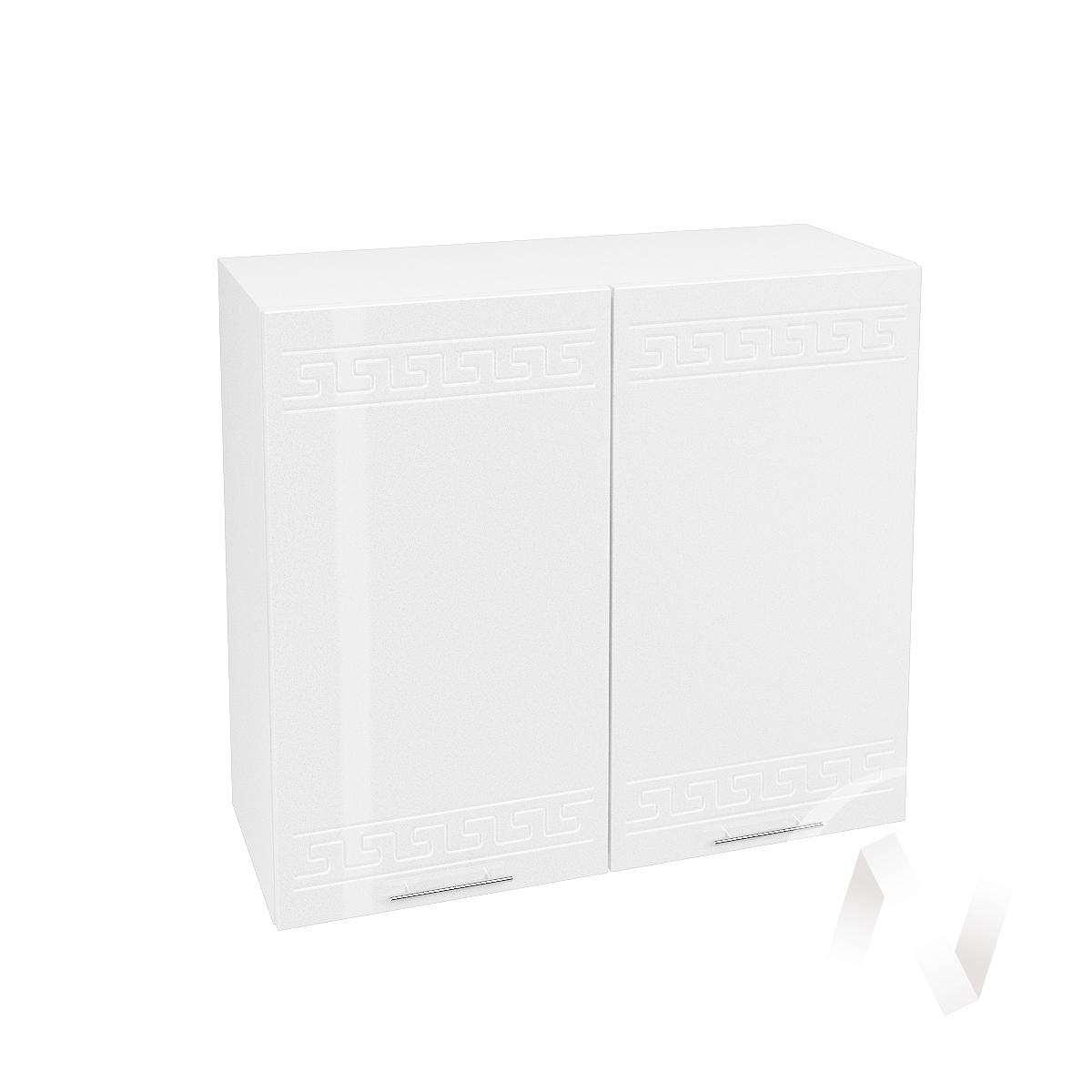 """Кухня """"Греция"""": Шкаф верхний 800, ШВ 800 новый (белый металлик/корпус белый)"""