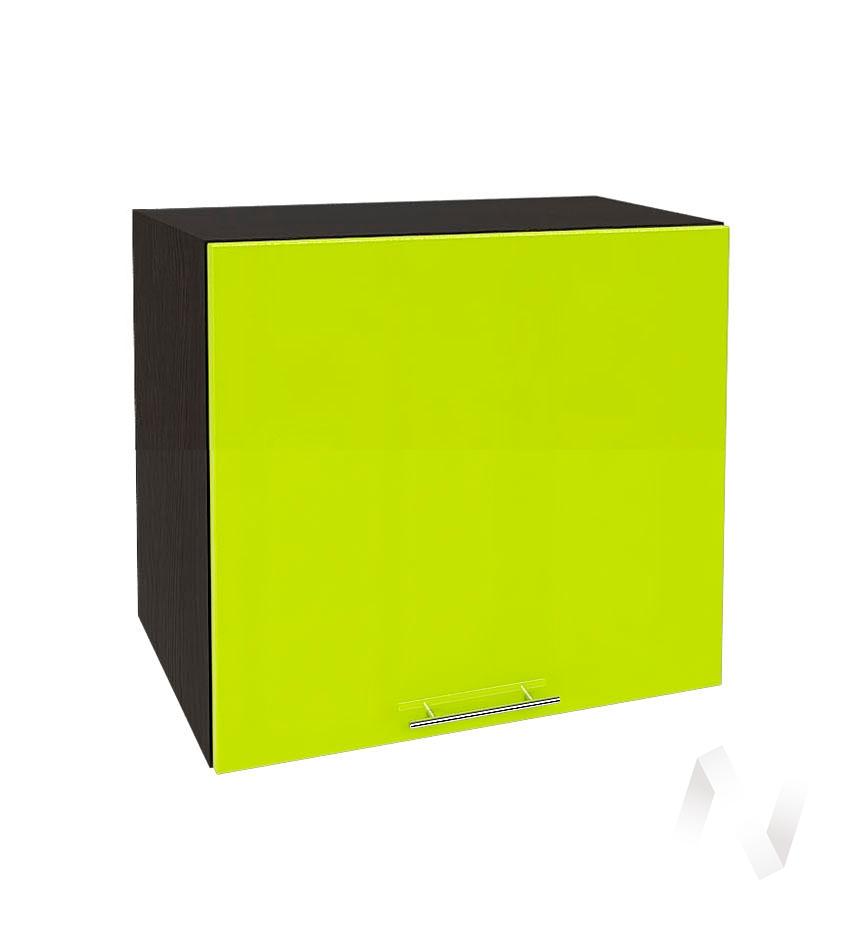 """Кухня """"Валерия-М"""": Шкаф верхний горизонтальный 509, ШВГ 509 (лайм глянец/корпус венге)"""