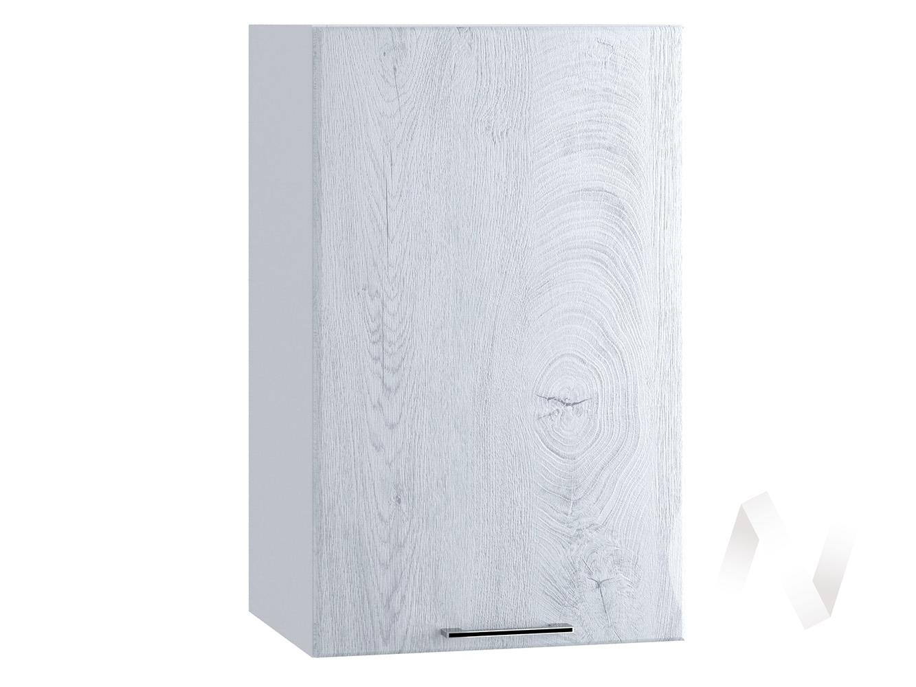 "Кухня ""Палермо"": Шкаф верхний 400, ШВ 400 (Дуб остин серый/корпус белый)"