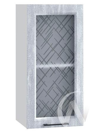 "Кухня ""Либерти"": Шкаф верхний 300, ШВС 300 (Холст натуральный/корпус белый)"