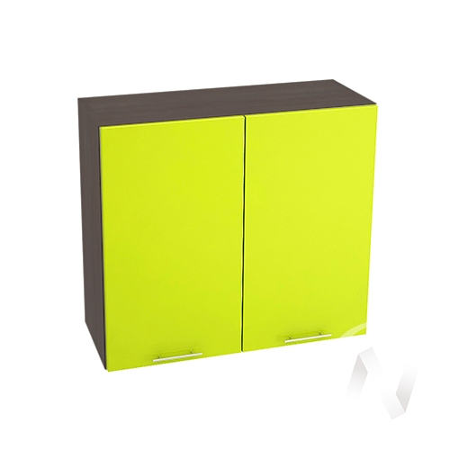 "Кухня ""Валерия-М"": Шкаф верхний 800, ШВ 800 (лайм глянец/корпус венге)"