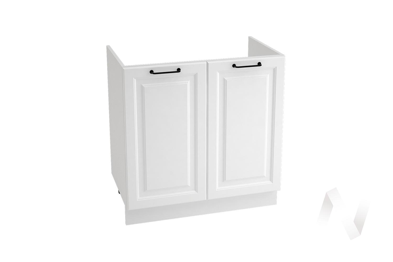 "Кухня ""Ницца Royal"": Шкаф нижний под мойку 800, ШНМ 800 новый (Blanco/корпус белый)"