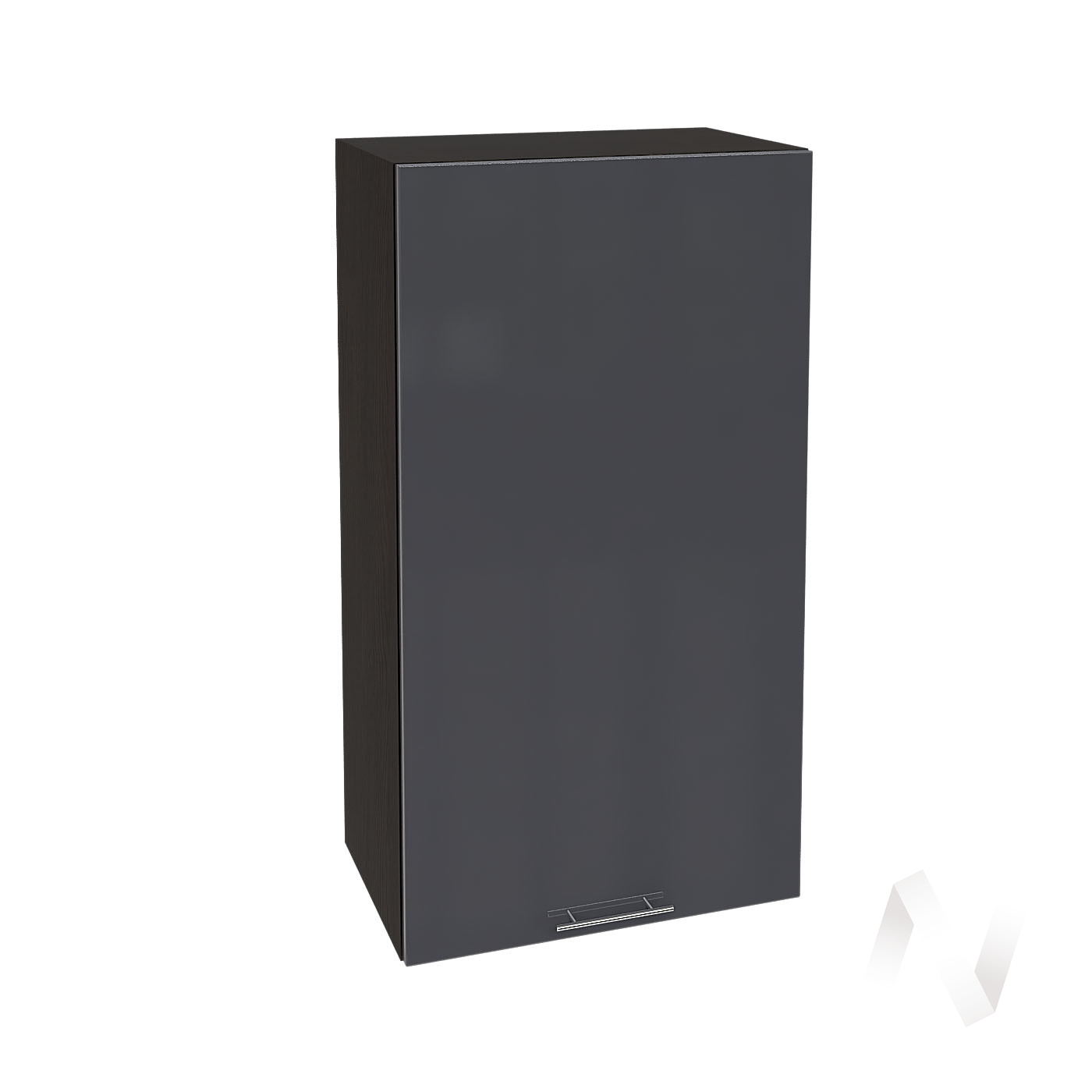 """Кухня """"Валерия-М"""": Шкаф верхний 509, ШВ 509 (Антрацит глянец/корпус венге)"""