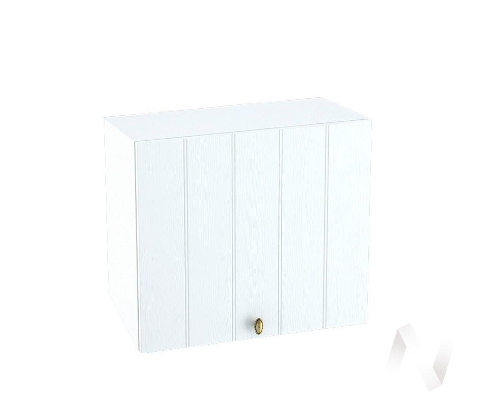 """Кухня """"Прованс"""": Шкаф верхний горизонтальный 509, ШВГ 509 (белое дерево/корпус белый)"""