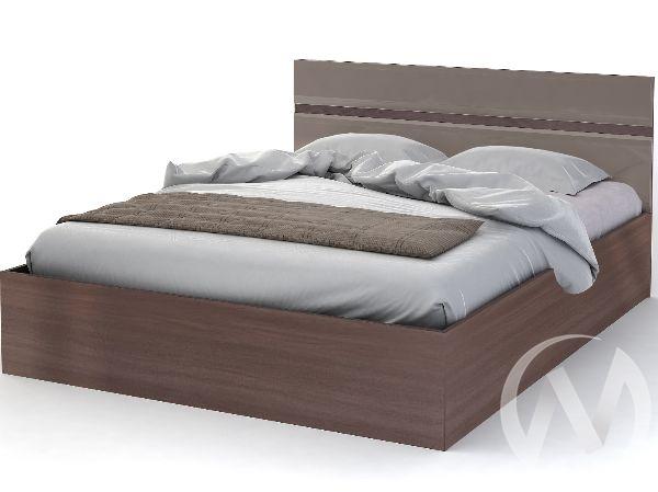 Кровать 1,6м Спальня Вегас (кофе с молоком)