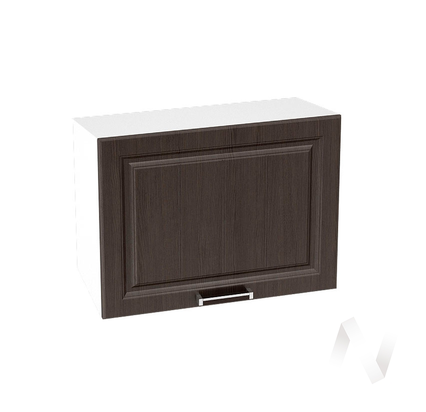"""Кухня """"Прага"""": Шкаф верхний горизонтальный 609, ШВГ 609 (венге/корпус белый)"""