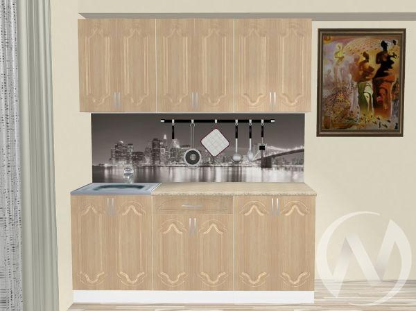 "Кухня ""Настя"" 1.8м (Береза/корпус белый) корпусно-фасадная"