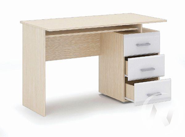 Стол компьютерный Симба (дуб белфорт/белый глянец)
