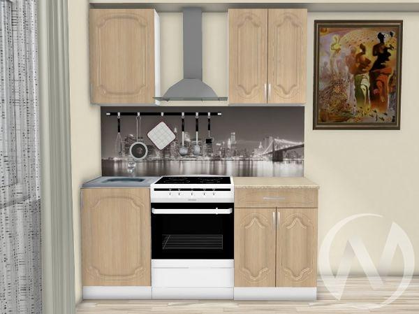 "Кухня ""Настя"" 1,1м (Береза/корпус белый) корпусно-фасадная"