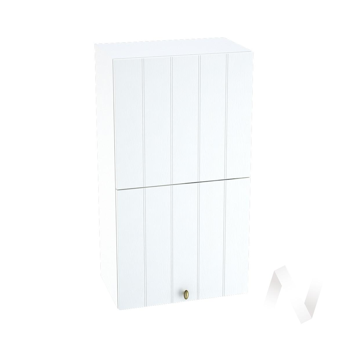 """Кухня """"Прованс"""": Шкаф верхний горизонтальный 502, ШВГ 502 (белое дерево/корпус белый)"""
