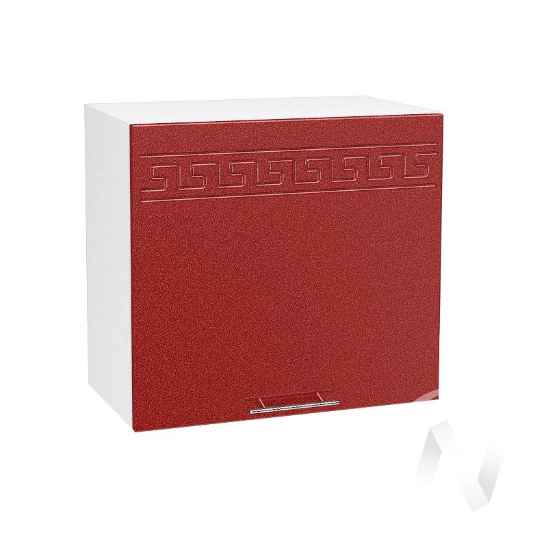 """Кухня """"Греция"""": Шкаф верхний горизонтальный 509, ШВГ 509 (гранатовый металлик/корпус белый)"""