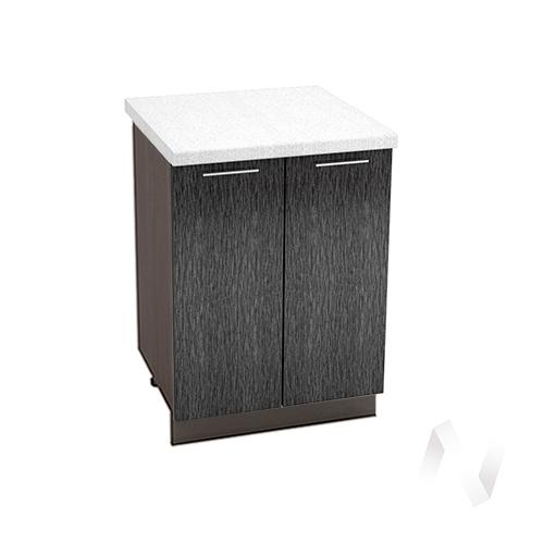 """Кухня """"Валерия-М"""": Шкаф нижний 600, ШН 600 новый (дождь черный/корпус венге)"""