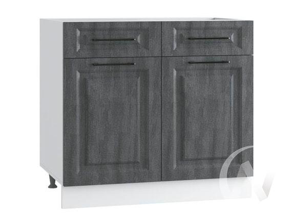 "Кухня ""Либерти"": Шкаф нижний с ящиками 800, ШН1Я 800 (Холст грей/корпус белый)"