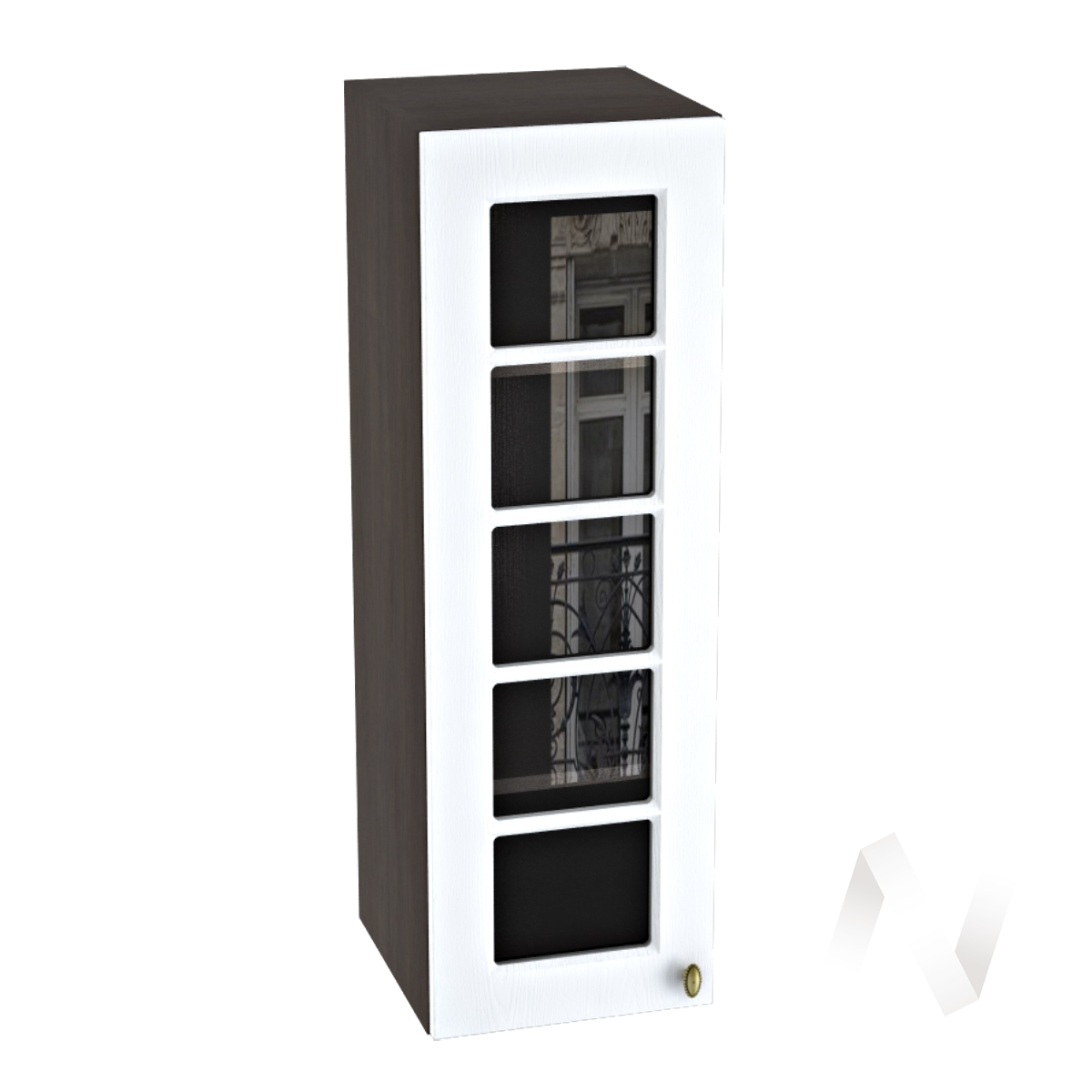 "Кухня ""Прованс"": Шкаф верхний 309, ШВC 309 (белое дерево/корпус венге)"