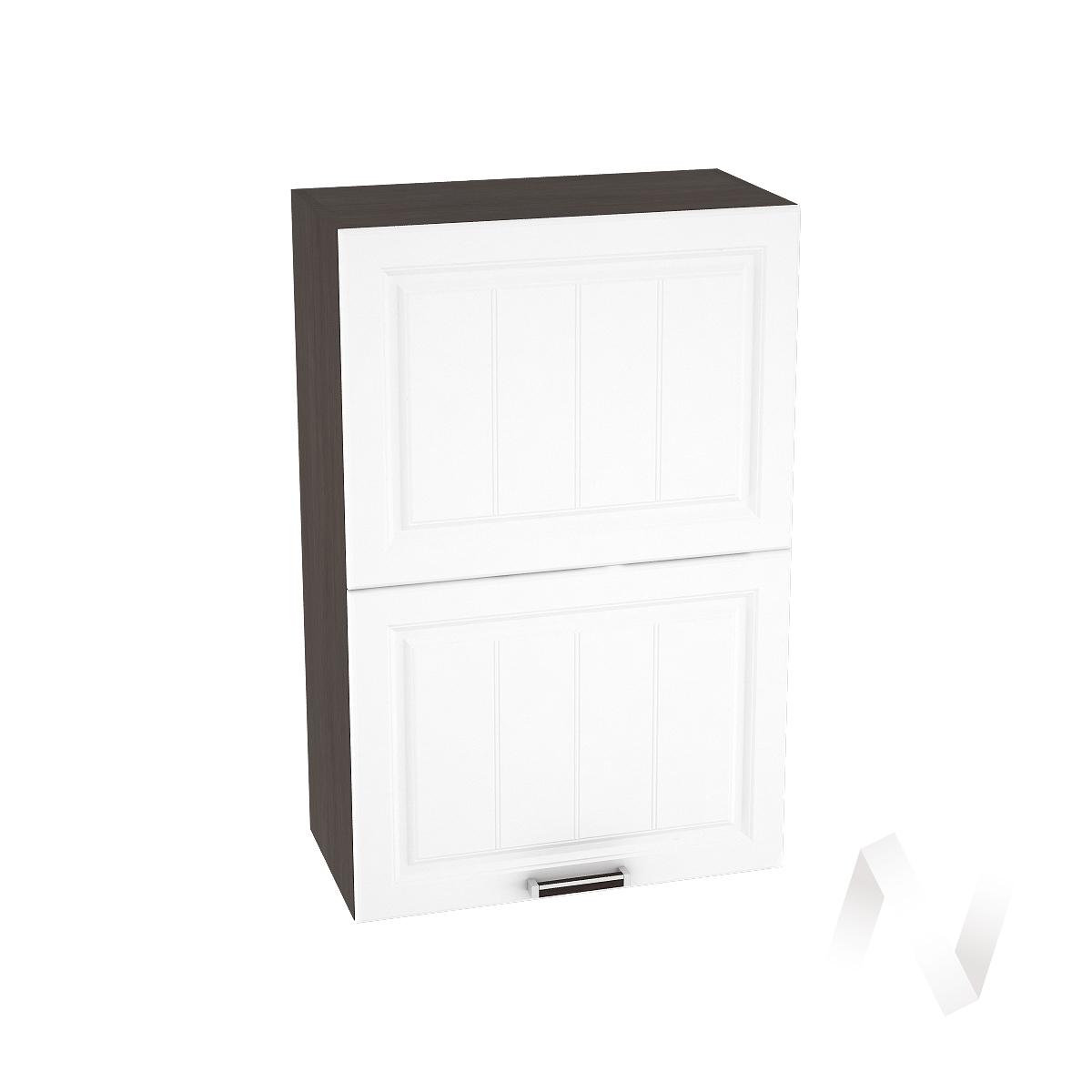 """Кухня """"Прага"""": Шкаф верхний горизонтальный 602, ШВГ 602 (белое дерево/корпус венге)"""
