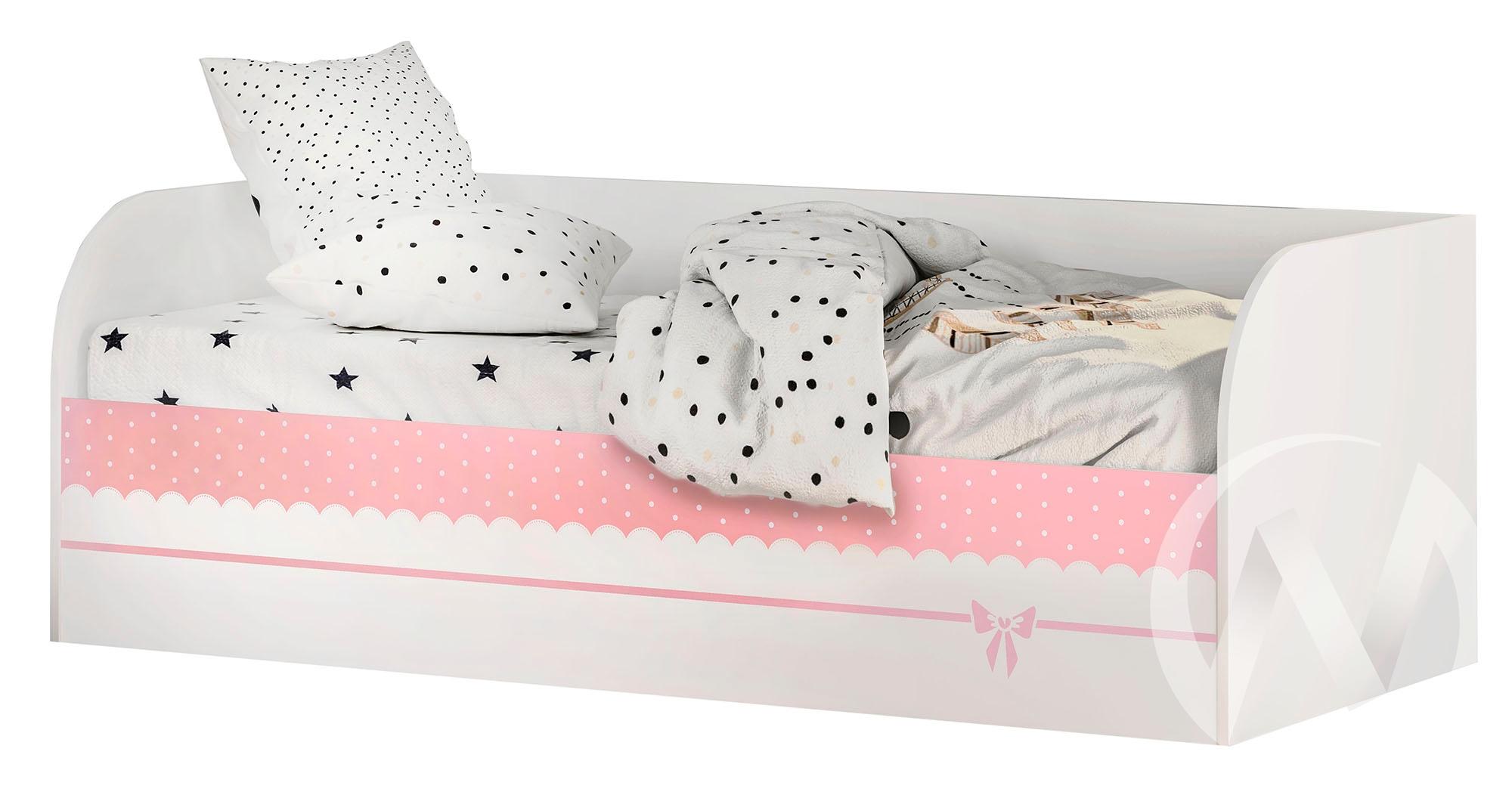 Кровать детская с подъемным механизмом КРП-01 Трио (белый/белый,фотопечать Принцесса)