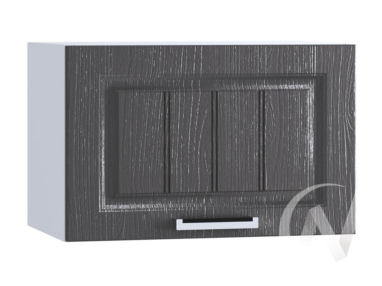 "Кухня ""Луксор"": Шкаф верхний горизонтальный 500, ШВГ 500 (Клён серый/корпус белый)"