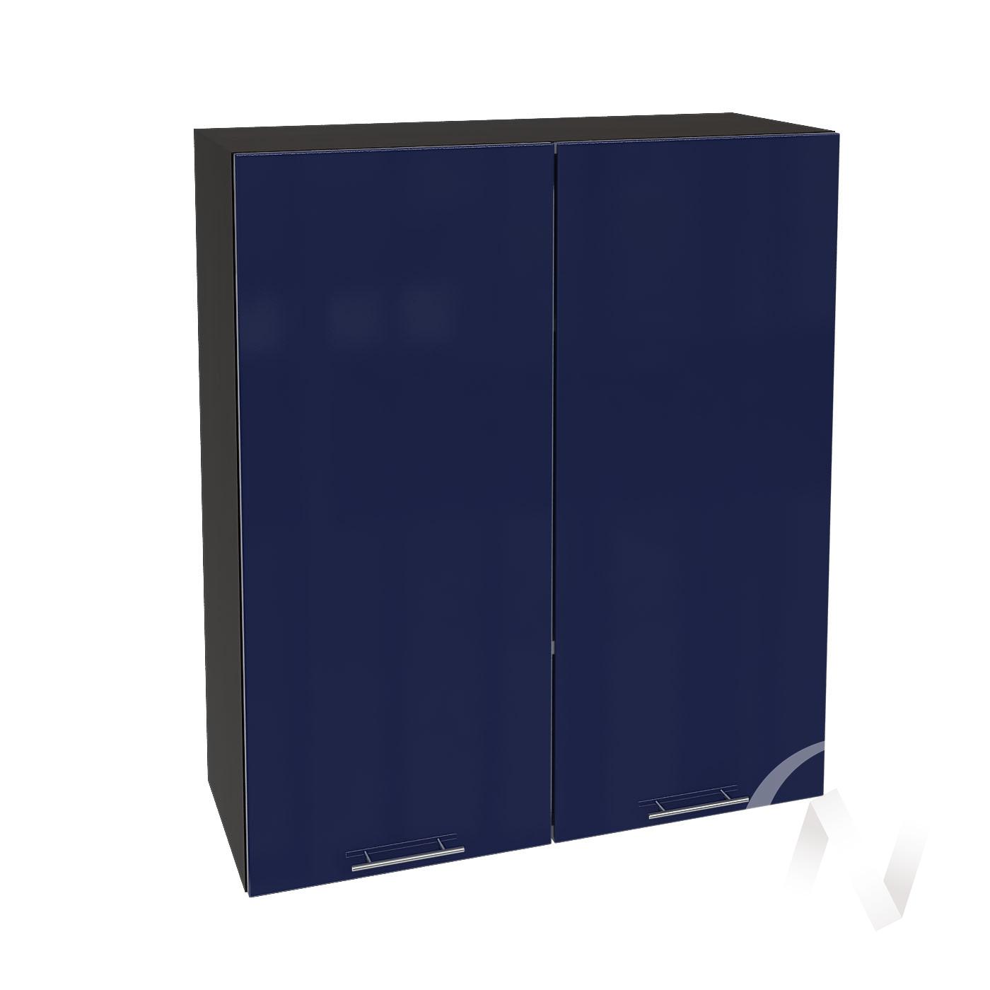 """Кухня """"Валерия-М"""": Шкаф верхний 809, ШВ 809 новый (Синий глянец/корпус венге)"""