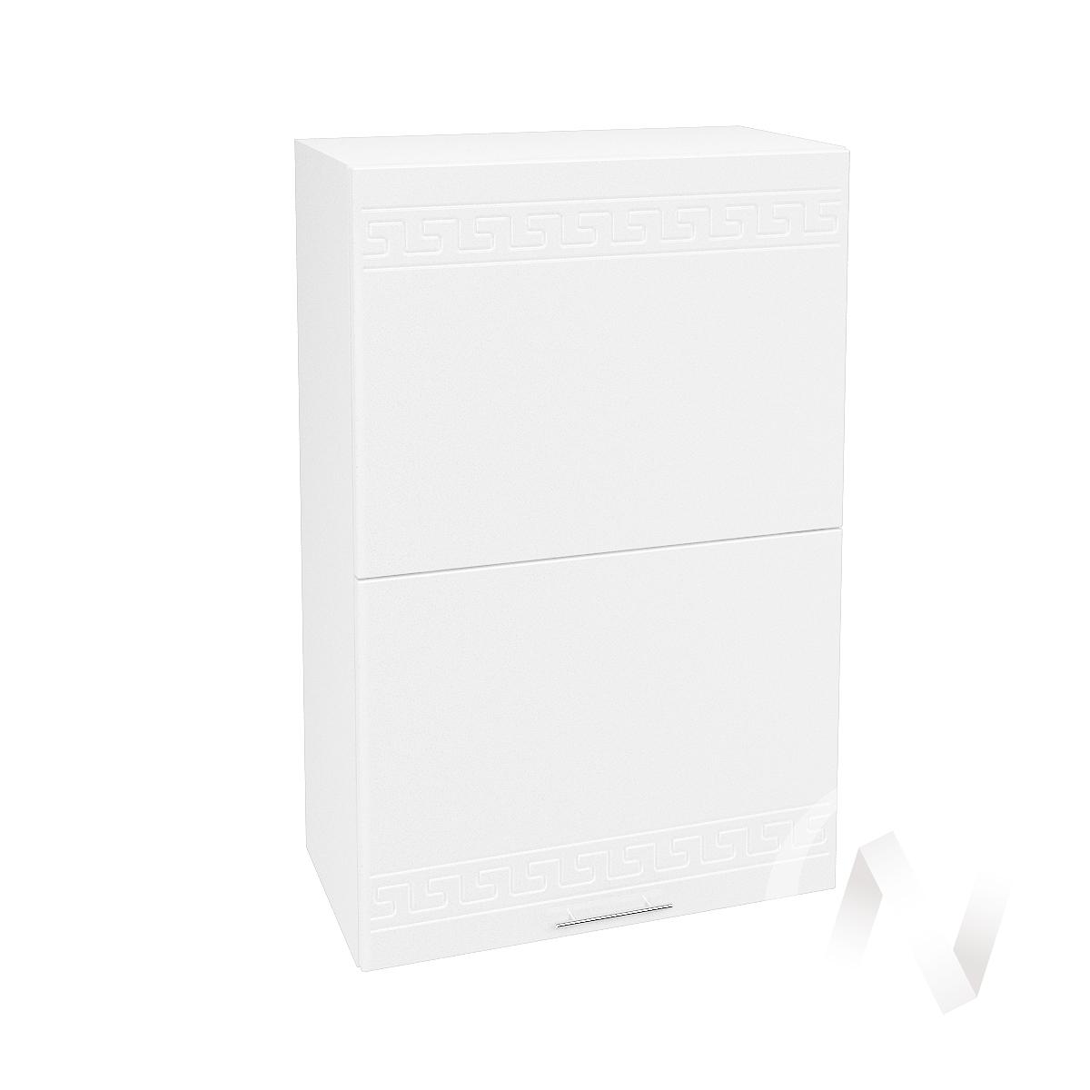 "Кухня ""Греция"": Шкаф верхний горизонтальный 602, ШВГ 602 (белый металлик/корпус белый)"