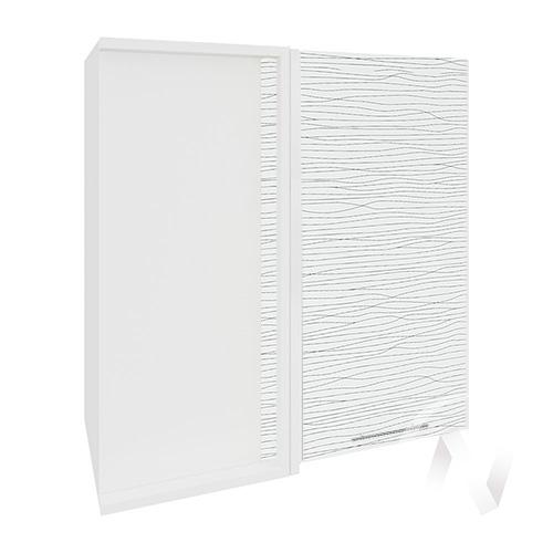 """Кухня """"Валерия-М"""": Шкаф верхний угловой 690, ШВУ 690 (Страйп белый/корпус белый)"""