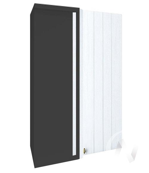 """Кухня """"Прованс"""": Шкаф верхний угловой 699, ШВУ 699 (белое дерево/корпус венге)"""