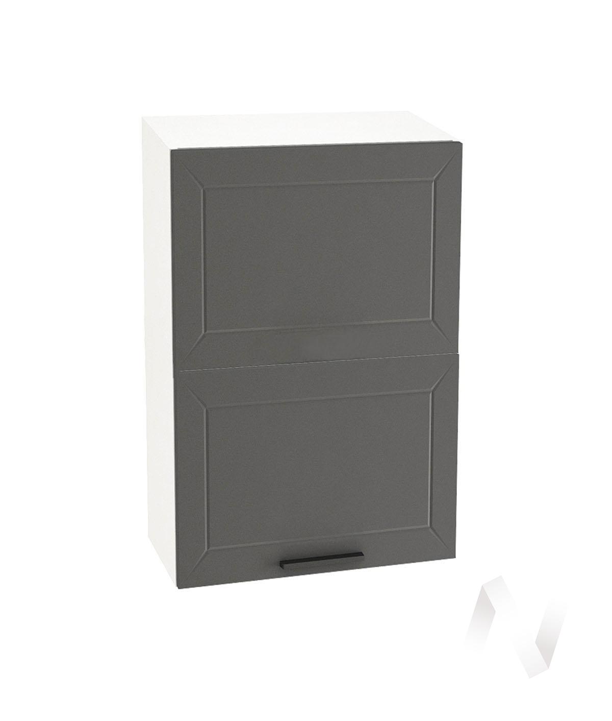 "Кухня ""Глетчер"": Шкаф верхний горизонтальный 602, ШВГ 602 (Маренго силк/корпус белый)"