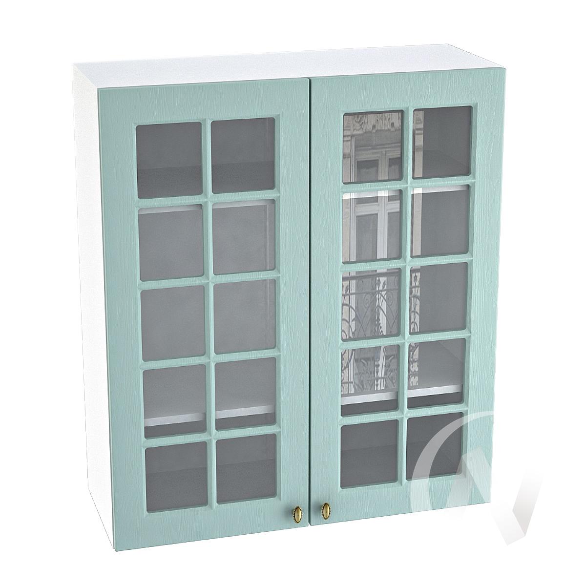 "Кухня ""Прованс"": Шкаф верхний 809, ШВC 809 (голубой/корпус белый)"