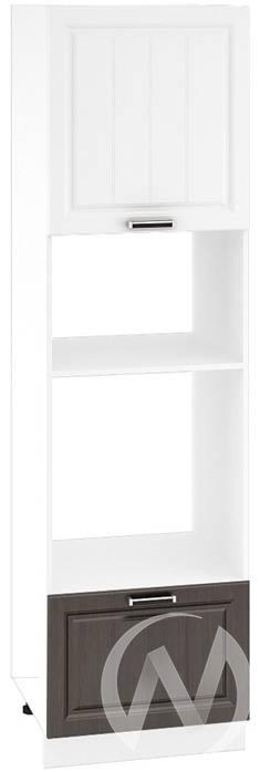 """Кухня """"Прага"""": Шкаф пенал 606М, ШП 606М (белое дерево/венге корпус белый)"""