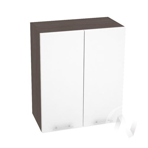 """Кухня """"Валерия-М"""": Шкаф верхний 600, ШВ 600 (белый глянец/корпус венге)"""