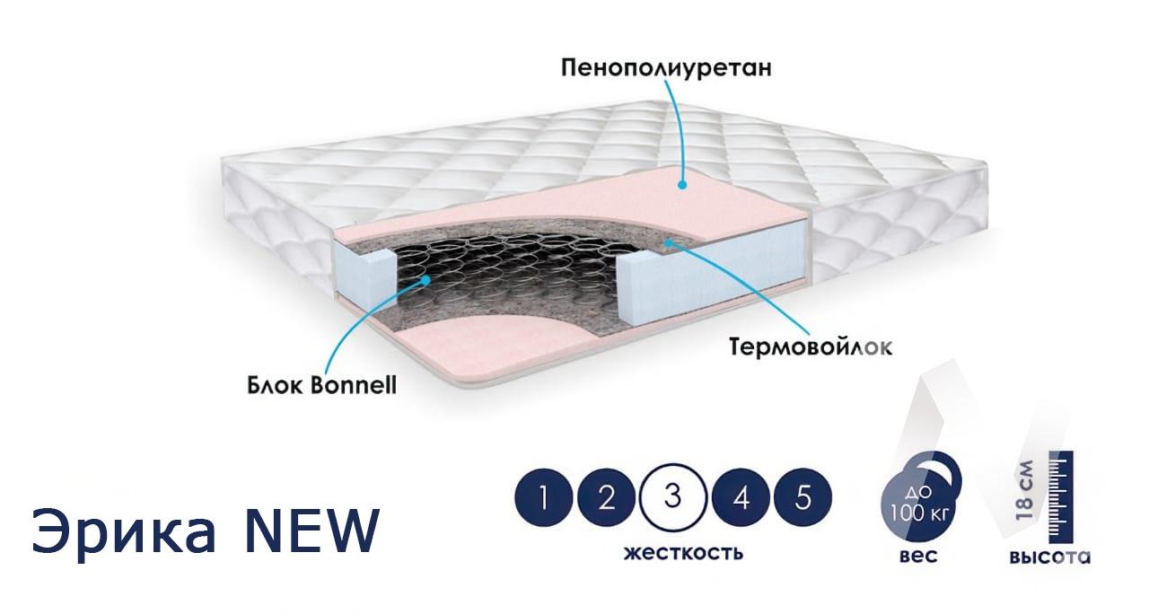 Матрас Эрика NEW (800х1900) недорого в Томске — интернет-магазин авторской мебели Экостиль