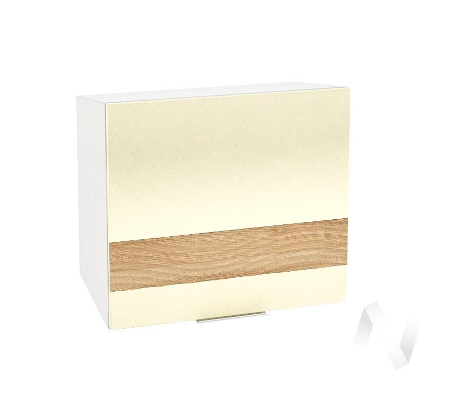 """Кухня """"Терра"""": Шкаф верхний горизонтальный 509, ШВГ 509 (ваниль софт/ель карпатская/корпус белый)"""