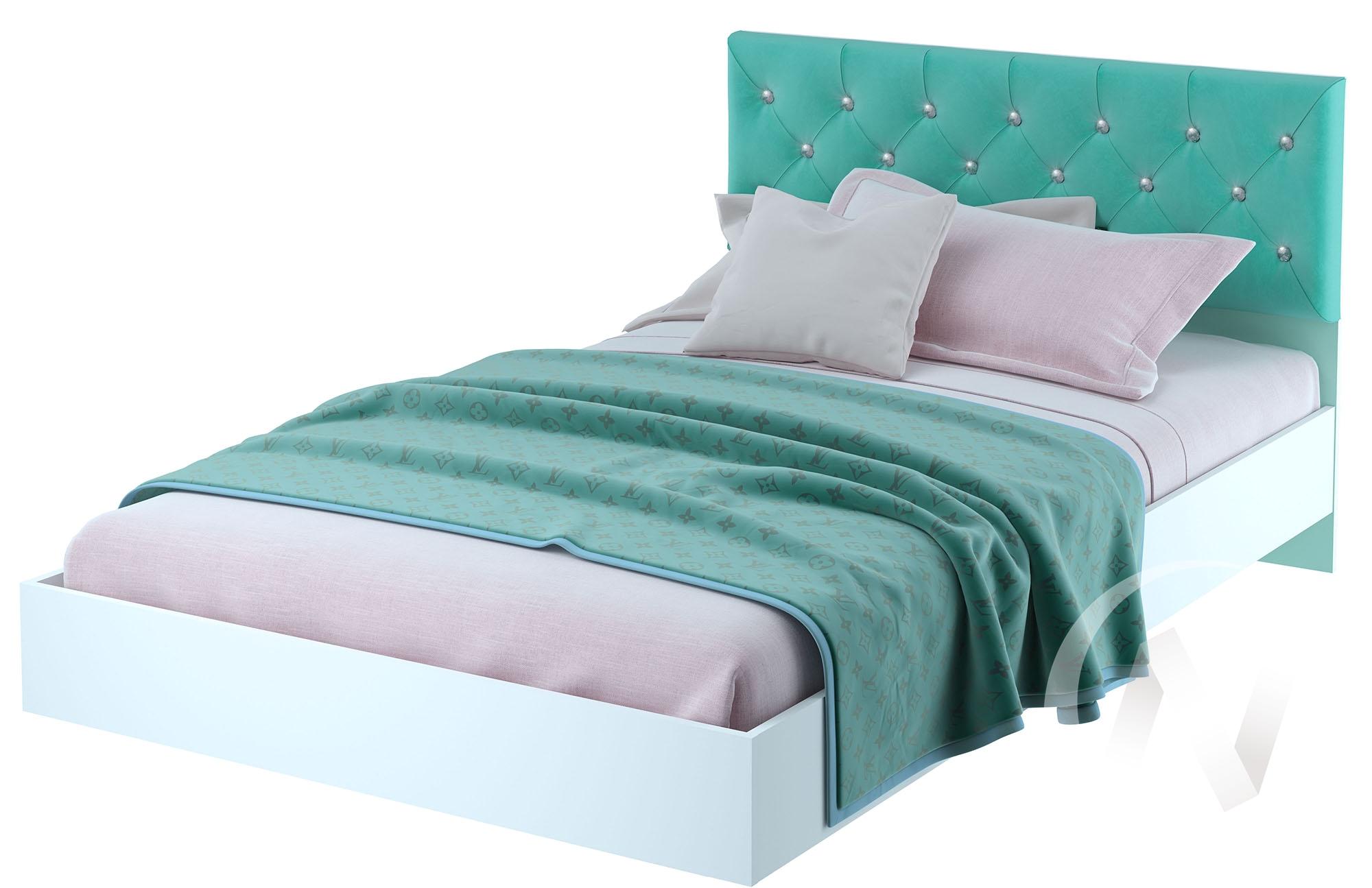Кровать детская КР-09 Тифани (белый/кенди)