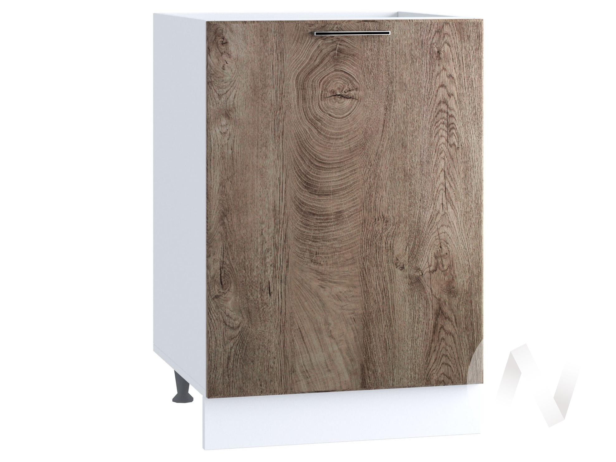 "Кухня ""Палермо"": Шкаф нижний под мойку 500, ШНМ 500 (Дуб остин беж/корпус белый)"