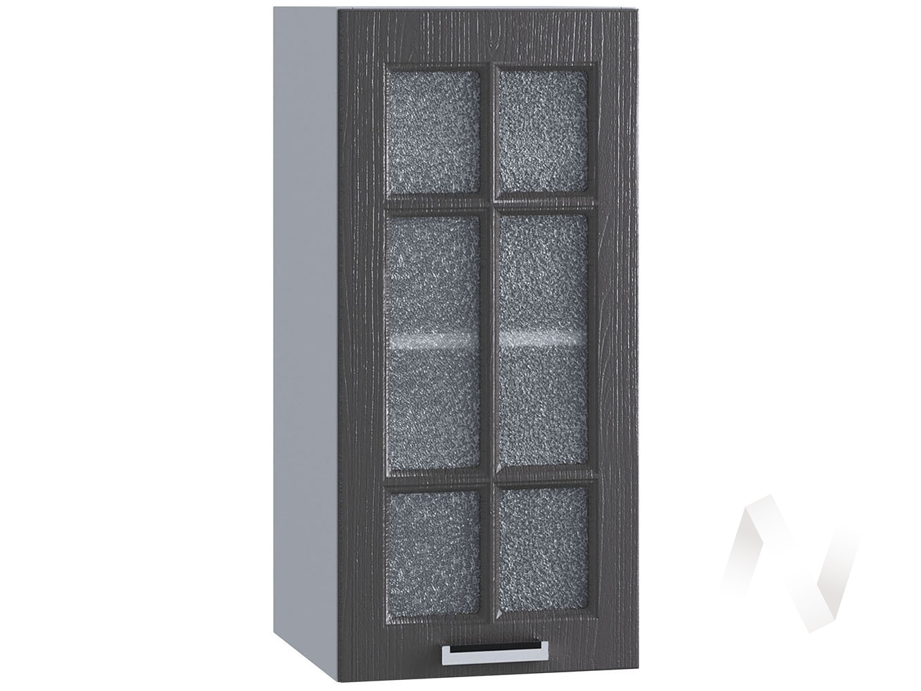 "Кухня ""Луксор"": Шкаф верхний 300, ШВС 300 (Клён серый/корпус белый)"