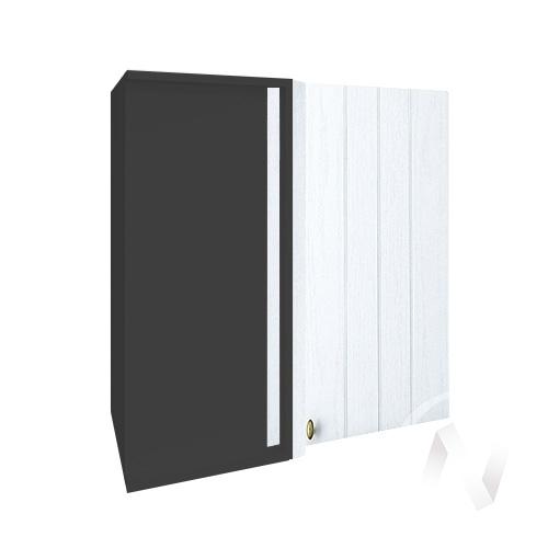 """Кухня """"Прованс"""": Шкаф верхний угловой 690, ШВУ 690 (белое дерево/корпус венге)"""