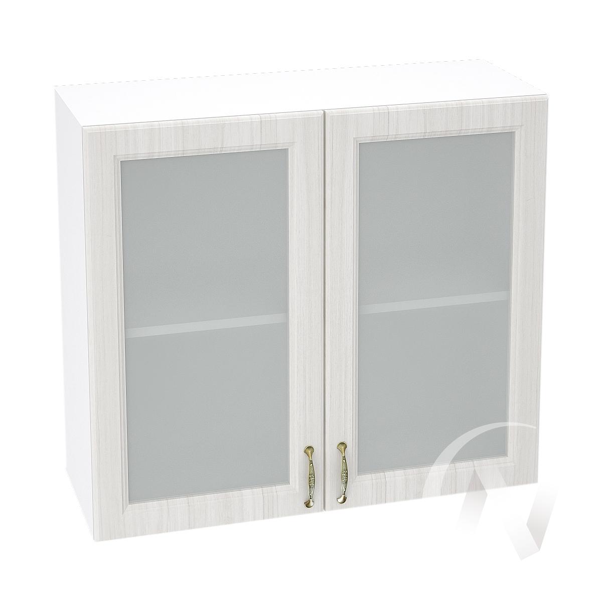 """Кухня """"Виктория"""": Шкаф верхний со стеклом 800, ШВС 800 новый (корпус белый)"""