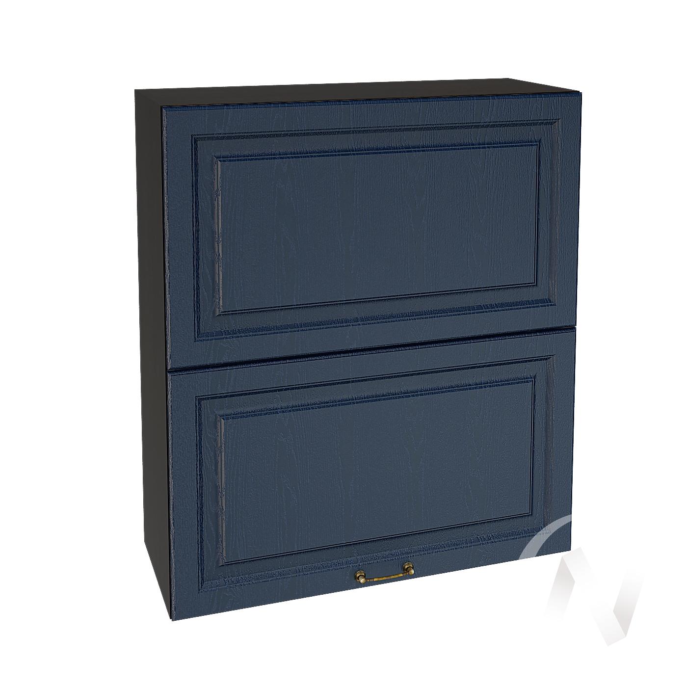 """Кухня """"Ницца"""": Шкаф верхний горизонтальный 802, ШВГ 802 (Дуб чернильный/корпус венге)"""