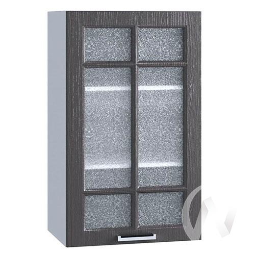 "Кухня ""Луксор"": Шкаф верхний 509, ШВС 509 (Клён серый/корпус белый)"