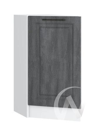 "Кухня ""Либерти"": Шкаф нижний торцевой 300, ШНТ 300 (Холст грей/корпус белый)"
