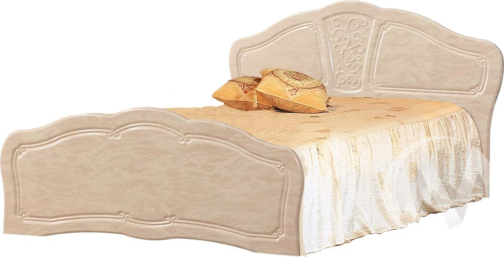 Верона Кровать №2 1,6 (бодега бежевый/клён) недорого в Томске — интернет-магазин авторской мебели Экостиль