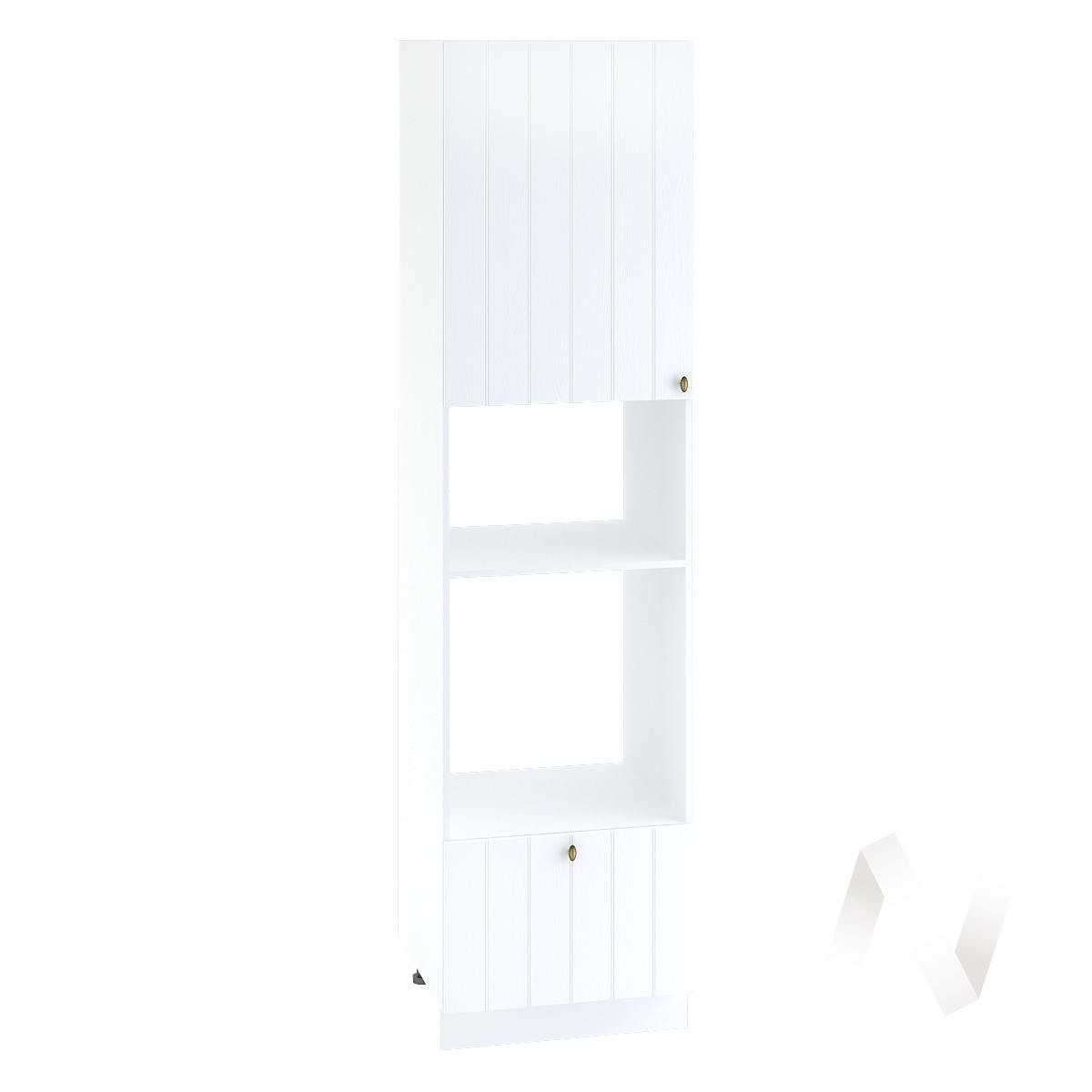 "Кухня ""Прованс"": Шкаф пенал 606, ШП 606НМ (белое дерево/корпус белый)"