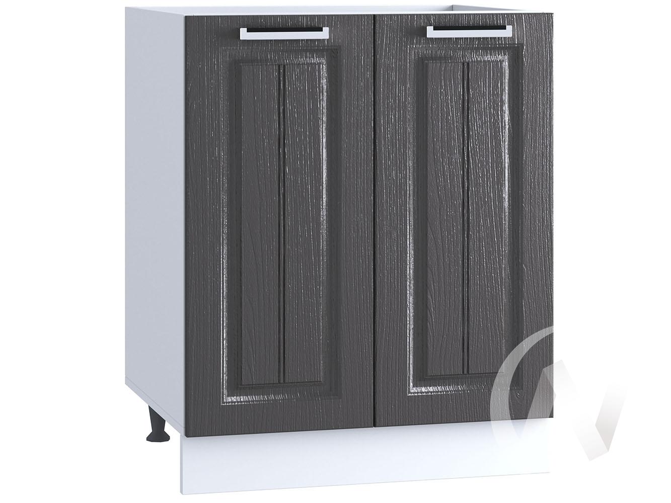 "Кухня ""Луксор"": Шкаф нижний под мойку 600, ШНМ 600 (Клен серый/корпус белый)"