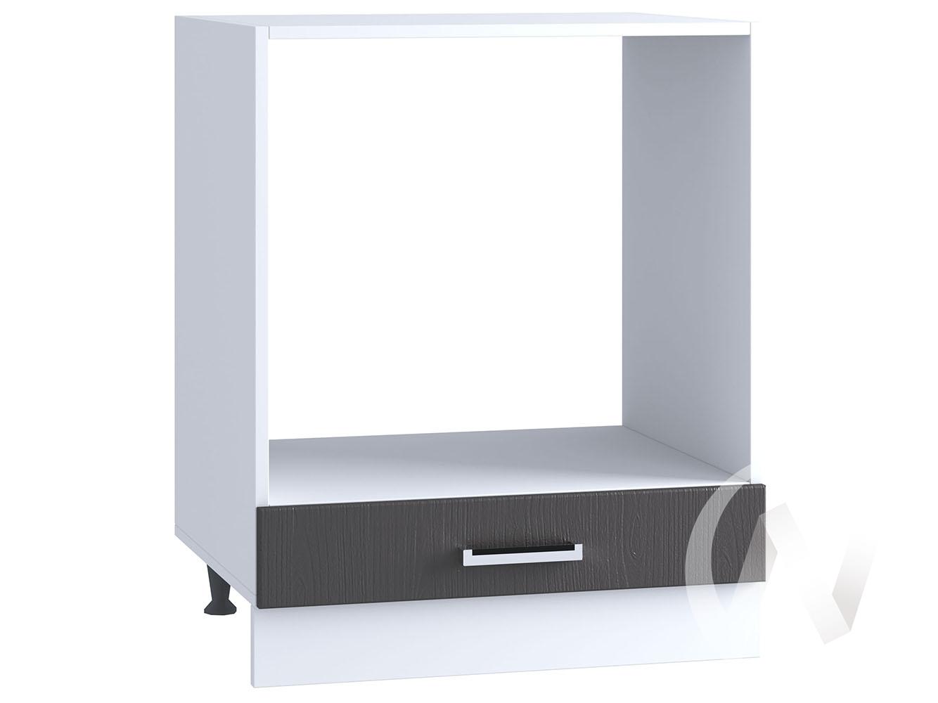 "Кухня ""Луксор"": Шкаф нижний под духовку 600, ШНД 600 (Клен серый/корпус белый)"