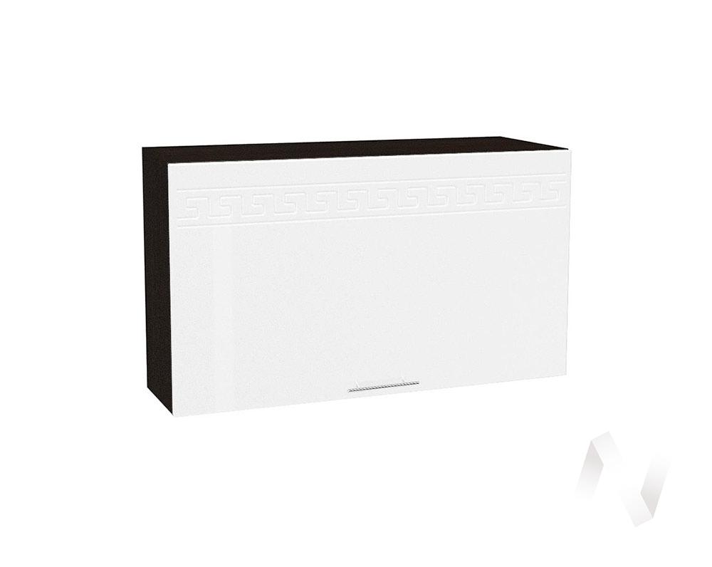 "Кухня ""Греция"": Шкаф верхний горизонтальный 809, ШВГ 809 (белый металлик/корпус венге)"