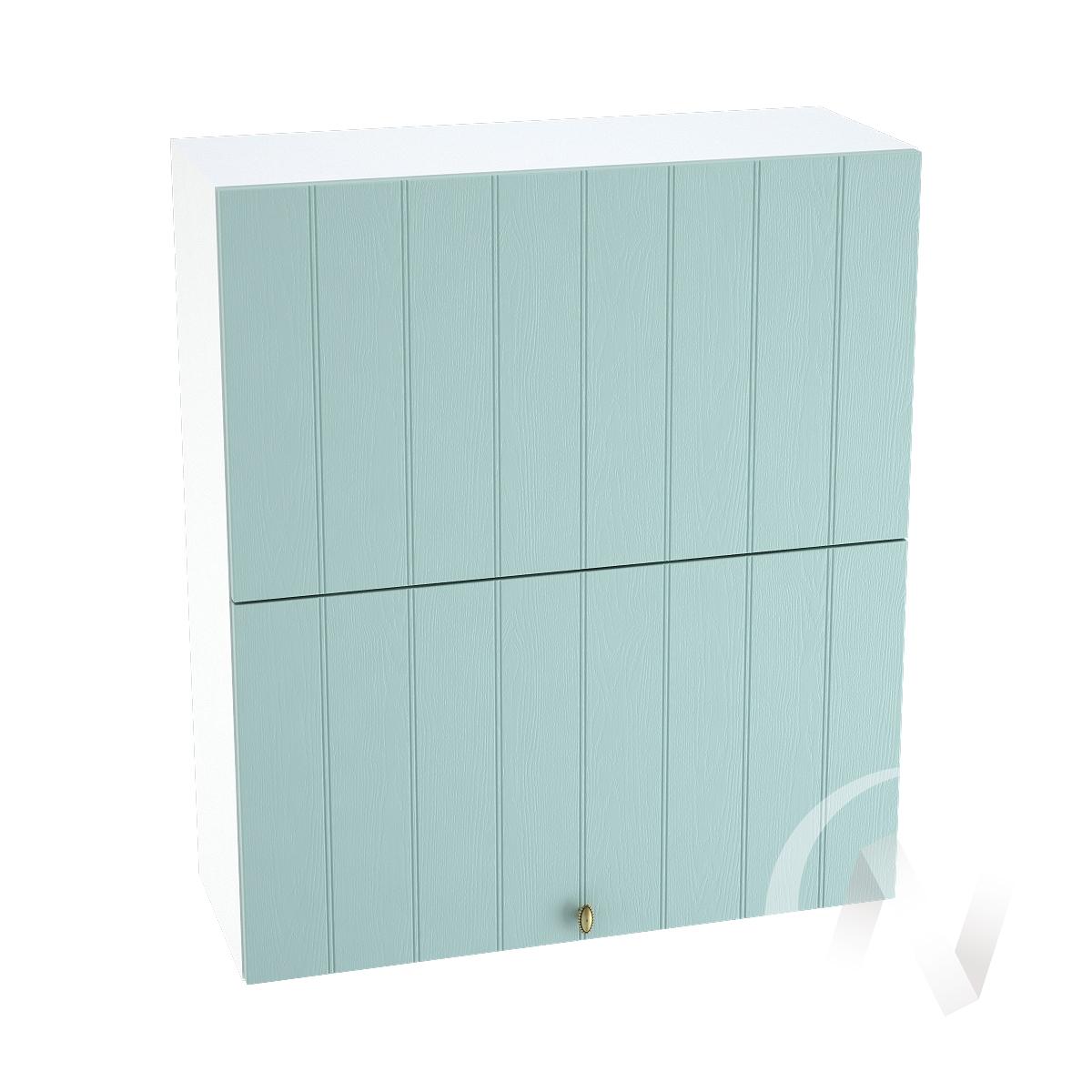 """Кухня """"Прованс"""": Шкаф верхний горизонтальный 802, ШВГ 802 (голубой/корпус белый)"""